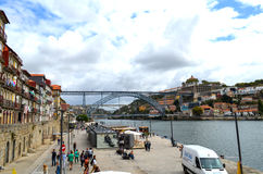 Tourist view of Porto, Portugal Royalty Free Stock Images