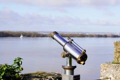 Free Tourist Viewer Binoculars Telescope In Blaye Citadel Gironde France Royalty Free Stock Photo - 168617915