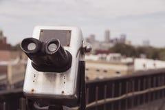 Tourist Viewing Binoculars Royalty Free Stock Photo