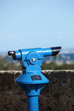 Tourist viewing telescope Royalty Free Stock Photos