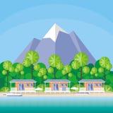 The tourist village Stock Image