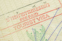 Tourist Visa. Thailand macro shot Royalty Free Stock Photo