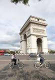 Tourist visit Arc de triumph Stock Photos