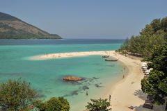 Tourist visit beautiful beach and crystal sea at Koh Lipe island Royalty Free Stock Photography