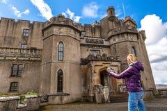 Tourist visit Dunvegan Castle Stock Photography