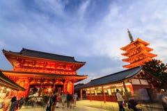 Tourist visit Sensoji, also known as Asakusa Kannon Temple is a Stock Image