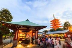 Tourist visit Sensoji, also known as Asakusa Kannon Temple is a Royalty Free Stock Photography