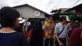 Tourist visit to tourism spot Chew Jetty at Pulau Pinang.