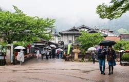 Tourist visit town of Itsukushima Stock Image