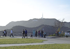 Tourist visiting Griffith observatory Royalty Free Stock Image