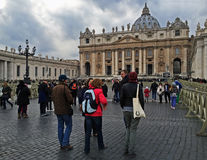 Tourist visiting Vatican Royalty Free Stock Photography