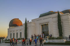 Tourist and visitors at Griffith Observatory Stock Photos