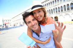 Tourist voucher for Venice Tour Stock Images