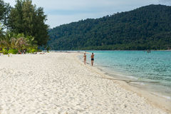 Tourist walk and relax on the beach in Koh Lipe Island Royalty Free Stock Photography