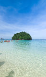 Tourist walk to small island at Krabi Thailand Stock Photography