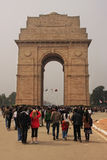 Tourist walking by India Gate, New Delhi Stock Images