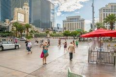 Tourist walking Las Vegas Boulevard Royalty Free Stock Photo