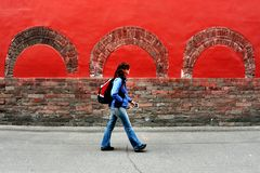 Tourist Walks in China Royalty Free Stock Photography