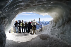 Tourist watching the Alps Stock Photography