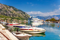 Tourist white cruise sea liner Stock Image