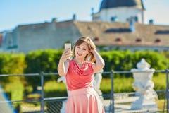 Tourist in Wien, Österreich Stockfoto