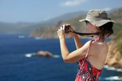Tourist woman Royalty Free Stock Photo