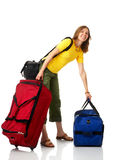 Tourist woman Stock Image