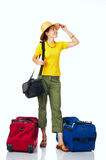 Tourist woman stock images