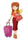 Tourist Woman Stock Photo