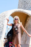Tourist woman in sunglasses Stock Photography