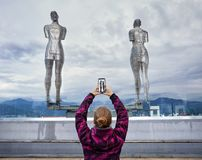 Tourist woman in Batumi Royalty Free Stock Image