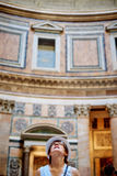 Tourist women in Pantheon Stock Photography