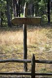 Tourist wood sign or mark path direction royalty free stock photos