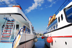 Tourist Yachts Royalty Free Stock Images