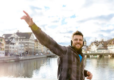 Tourist in Zurich, Switzerland, Europe Stock Photo