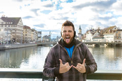 Tourist in Zurich, Switzerland, Europe Royalty Free Stock Photos