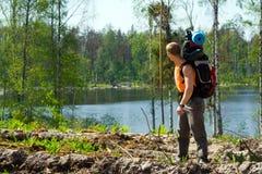 Touriste à la nature Images stock
