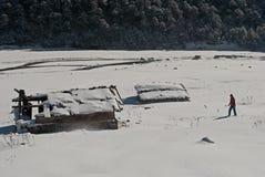 Touriste à la vallée de Yumthang image stock
