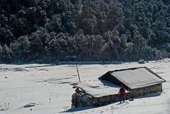 Touriste à la vallée de Yumthang Photo libre de droits