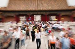 Touriste à la ville interdite Photo libre de droits