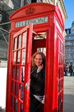 Touriste à Londres Photo stock
