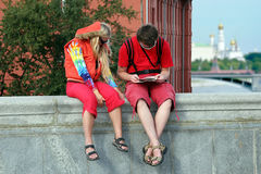 Touriste à Moscou image stock