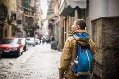 Touriste à Naples Photos stock