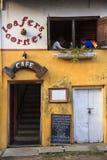 Touriste à un cafétéria dans le fort Kochi - Inde Photographie stock libre de droits