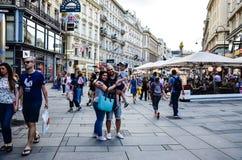 Touriste à Vienne, Autriche photographie stock
