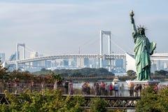 Touriste anonyme dans Odaiba, Tokyo photos libres de droits