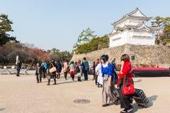 Touriste au château de Nagoya Photos libres de droits
