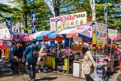 Touriste au parc de château de Hirosaki Images stock