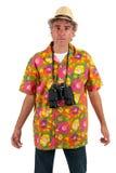 Touriste avec binoche Images stock