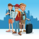 Touriste dans la ville illustration stock
